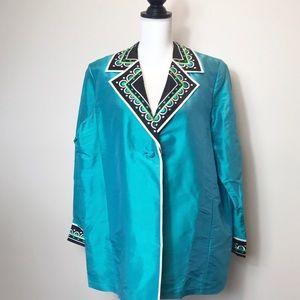 Bob Mackie Wearable Art Women's Silk Blazer